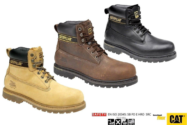 Caterpillar Leather Steel Toe Cap Safety Boots SB (CT001ABN)