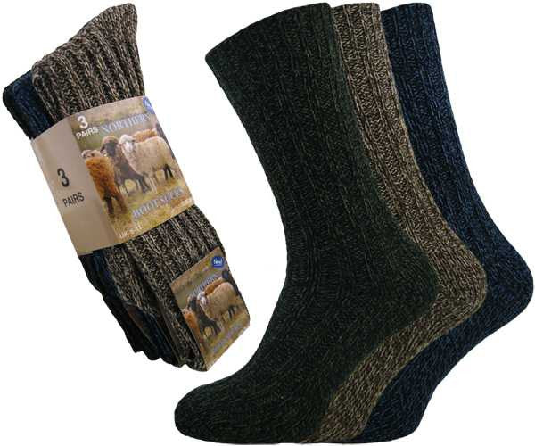 Chunky Knitted Wool All-Terrain Short Boot Socks
