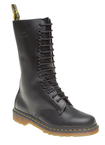Dr Martens Black Smooth Leather Classic 14 Eyelet DM Boot (DM440A)