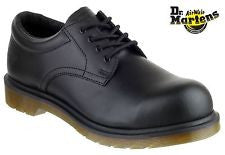 Dr Martens Black Leather Industrial Safety Shoes SB (DM776A)