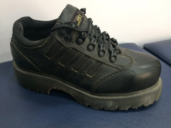 Dr Martens Black Leather Safety Shoes SB (FS25)