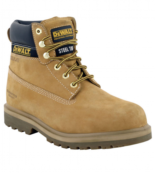 Dewalt Explorer-Hancock Honey Nubuck Leather Steel Toe Cap Safety Boots SBP