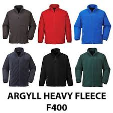 Argyll Heavy Quilted Fleece Jackets  In Black, Grey, Navy, Green (F400)
