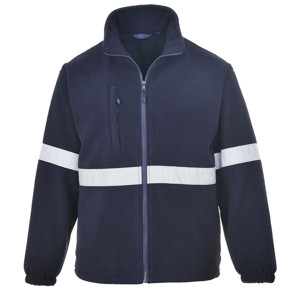 Navy Padded Hi-Vis Fleece Jacket (F433)