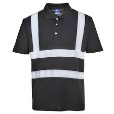 Hivis Iona Polo T Shirts In Black And Navy (F477)