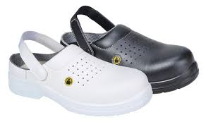 Black Lightweight ESD Perforated Safety Clogs SB (FC03)