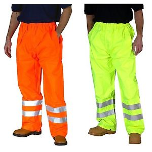 Hi Light Hivis Lightweight Waterproof Trousers (17 Yellow / 18 Orange )
