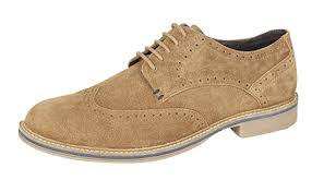 Roamers Suede Leather Lightweight Brogue Desert Shoes M055A/B/DBS)