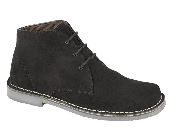 Roamers Suede Leather 3 Eyelet Desert Boots (M378AS/FS/BS/DBS)