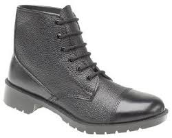 Grafters Black Leather 6 Eyelet Cadet Boots (M391A)