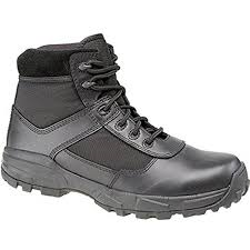 Grafters Black Leather Non Metal Super Lightweight Stealth Combat Boot (M497A)