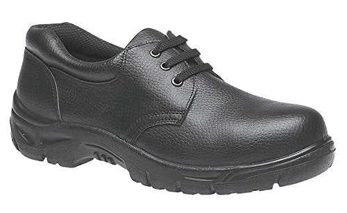 Grafters Black Leather Steel Toe Cap Safety Shoes SB (M530A)