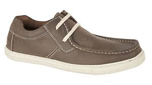 Roamers Brown Crazy Horse Nubuck Leather 2 Eyelet Boat Shoes (M552BN)