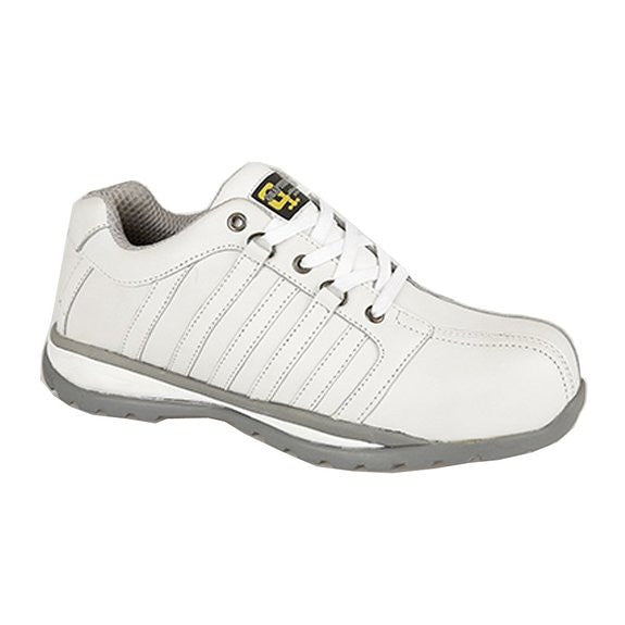 Grafters White Leather Composite Toe Cap Safety Trainers S3  (M621G)