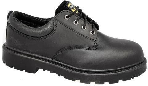 Grafters Contractor Black Leather Steel Toe Cap Safety Shoes SB (M627A)
