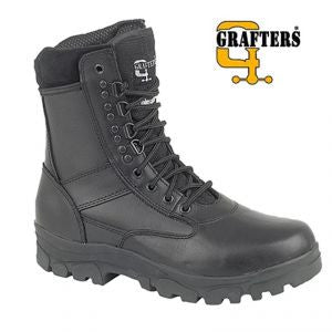 Grafters Black Leather Combat Boot (M671A)