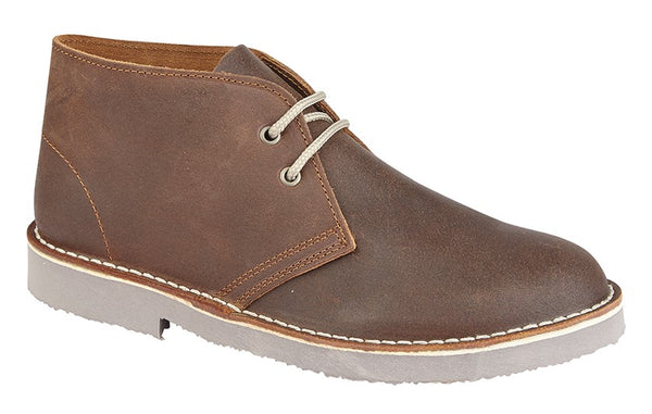 Roamers Distressed Suede Leather 2 Eyelet Desert Boots (M675A/B)