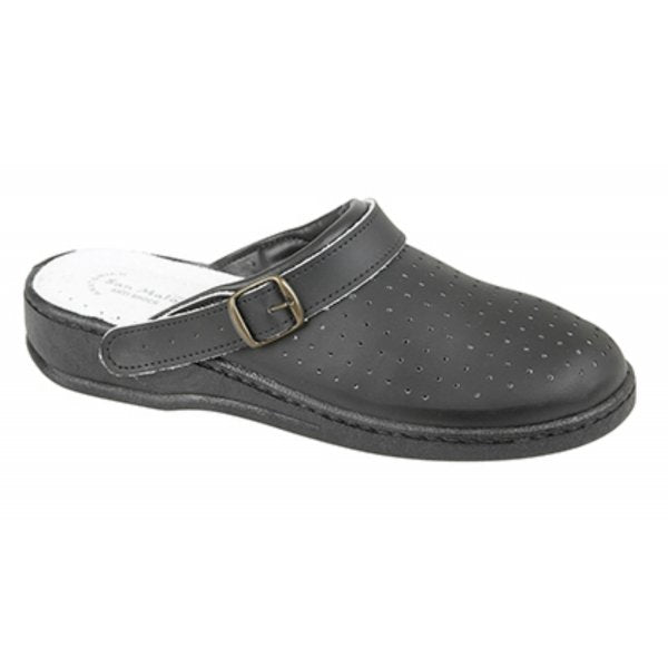 Hospital/Care Dek Leather Non-Safety Clogs/Sandals (M748A)