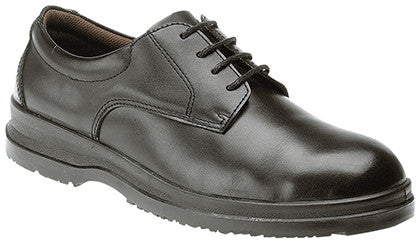 Grafters Uniform Black Leather Gibson Steel Toe Cap Safety Shoes SIP (M774A)