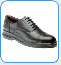 Grafters Uniform Black Leather Steel Toe Cap Safety Oxford Shoe SIP (M775A)