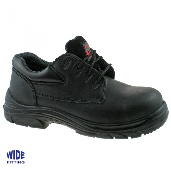 Grafters Black Leather Extra Wide