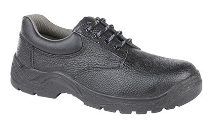 Grafters Black Leather 4 Eyelet Lightweight Steel Toe Cap Safety Shoes SB M9534A-M9537A)