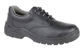 Grafters Black Leather 4 Eyelet Lightweight Steel Toe Cap Safety Shoes SB (M9537A)