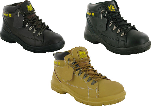 Bartium Leather Safety Steel Toe Cap Safety Boots SIP (MBO200)