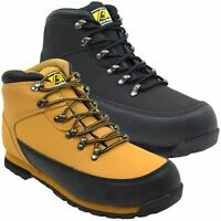 Bartium Leather Safety Steel Toe Cap Boots Lightweight SB (MBO6208)