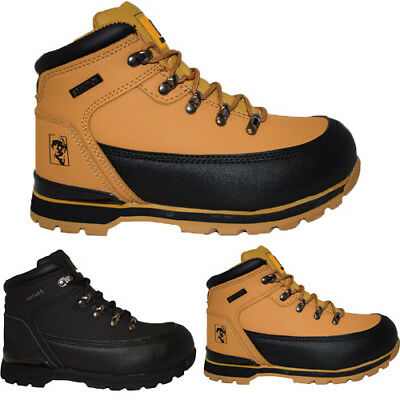Maxsteel Lightweight Safety Boots With Steel Toecap SB in Black And Honey Colour MS25