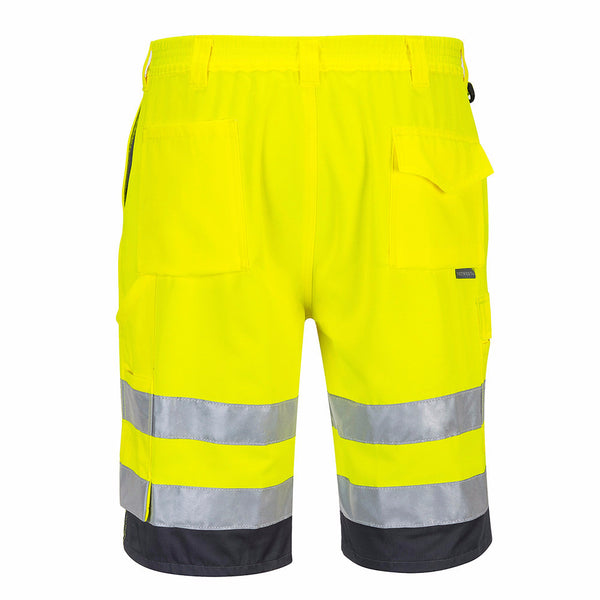 Hi-Vis 8 Pocket Work Shorts In Orange, Yellow (E043)