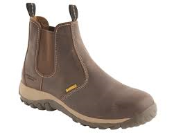 Dewalt Brown Waxy Leather Steel Toe Cap Safety Dealer Boots SBP (Radial)