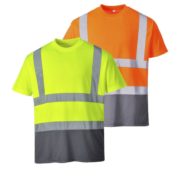 Portwest S378 Two Tone T Shirts In Yellow, Orange