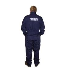 Portwest S389 Navy Overall Security Printed At Back