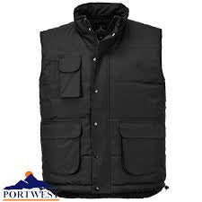 Padded Multi Pocket Body Warmers In Black, Navy (S415)