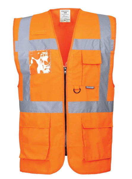 Berlin Executive Hivis Vest With Pockets (S476)