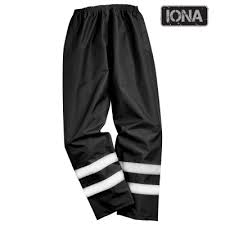 Iona Lite Waterproof Hivis Trousers with Elasticated Waist (S481)