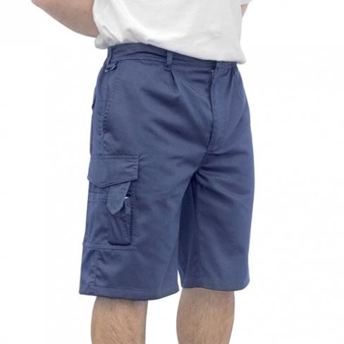 Navy Portwest Combat Shorts With Elasticated Waist (S790)