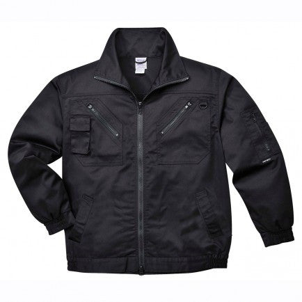 Action Jacket With Zip Pockets In Black , Navy (S862)