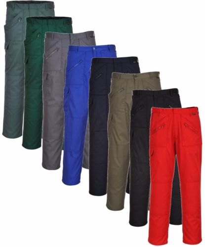 Action Zip Pocket Work Trousers In Many Colours (S887)