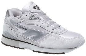 Hi-Tec Silver Shadow Grey Suede Leather Lightweight Classic Trainer/Jogger (T520F)