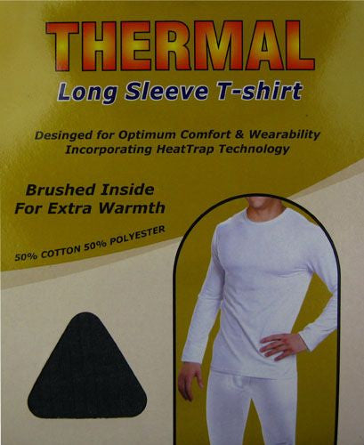Men's Brushed Thermal Insulated Long Sleeve T-Shirts