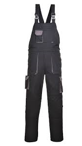 Portwest Texo Contrast Bib and Brace With Elasticated Waist (TX12)
