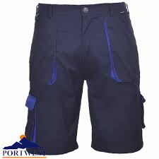 Portwest Texo Contrast Shorts With Elasticated Waist (TX14)