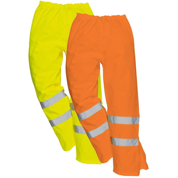 Hi-Vis Breathable Waterproof Trousers Class 3 GO/RT In Orange, Yellow (RT61-S487)