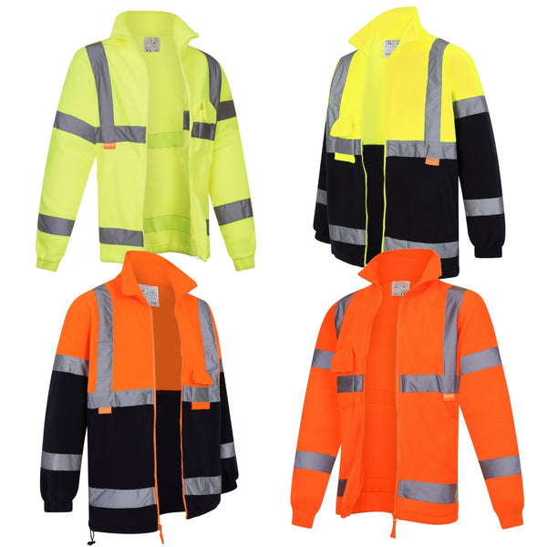 Hivis Fleece Jacket EN20471 Class 3 (98 Yellow/101 Orange/199 Yell/Navy-210 Orange/Navy)