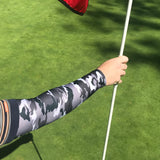 grey camo sun sleeves for golfing