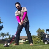 Pink Full Arm Golf Sun Sleeves