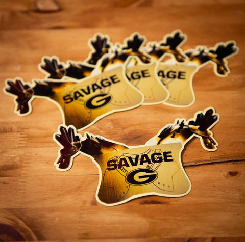 "UGA Georgia Bulldogs Stickers - Savage Pads - 6"" Die Cut Vinyl Photo Decals for Laptop, Cooler & More"