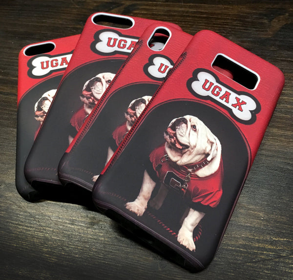 UGA Georgia Bulldogs: Phone Case - iPhone 6 / 7 / 8 / X & Galaxy S8 / S9 - Uga's Dawg House Mascot